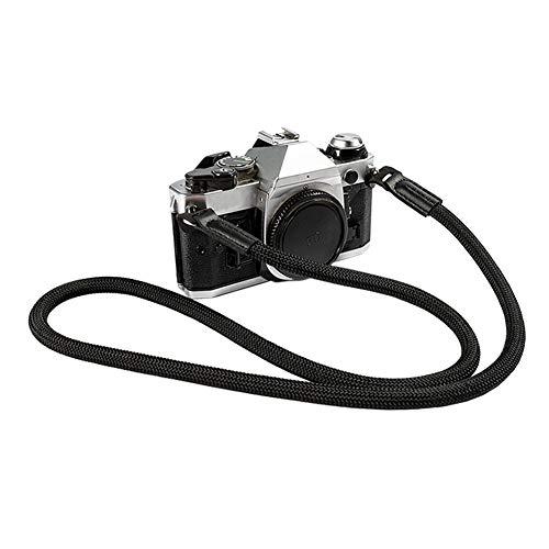 Mirrorless Camera Neck Strap for Leica Nikon Fuji Pentax Canon Panasonic Sony Climbing Rope Shoulder Strap Black