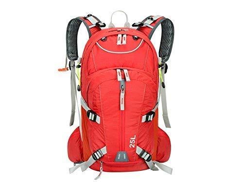 Lizes Faltbare Rucksäcke für Outdoor und Indoor Sport Outdoor Casual Reiten Rucksack Klettern Tasche Wanderrucksack (rot) für Herren Frauen