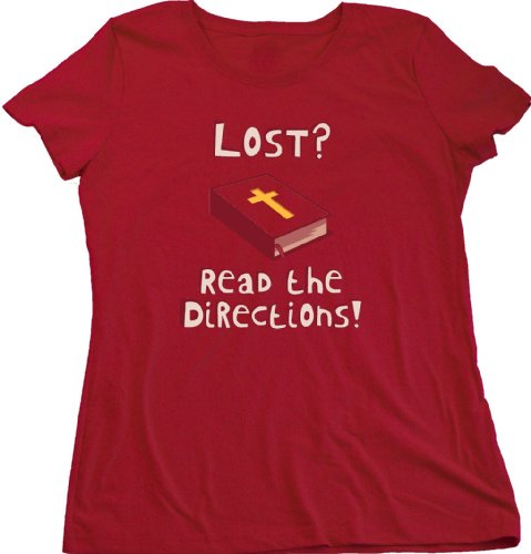 Ann Arbor T-shirt Co. Women's LOST? READ THE DIRECTIONS! T-shirt
