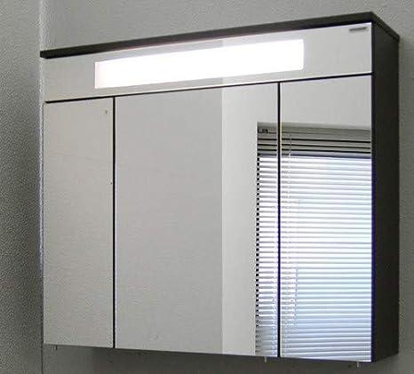 FACKELMANN Spiegelschrank Kara/inklusive Leuchtstoffröhre 13 Watt/Maße (B x  H x T) ca. 80x70x23 / Möbel fürs WC oder Badezimmer/Korpus: ...