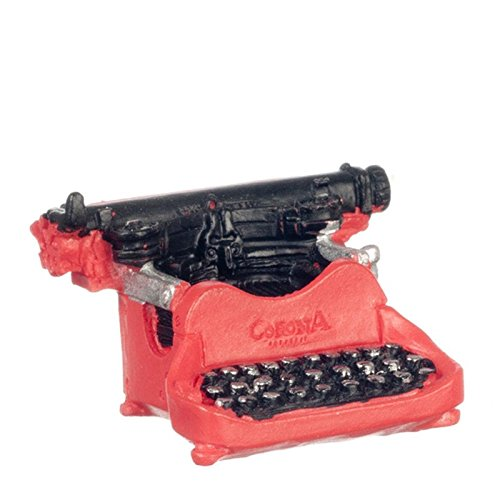 lhouse Miniature Typewriter, Corona, Red ()