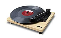 ION Audio Compact LP | Space-Efficient 3-Speed USB Conversion Turntable (Wood-Grain Finish) from Ion Audio - MI