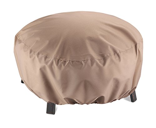 SunPatio Outdoor Round Fire Pit Cover, Kettle Cover, Ottoman Cover, 32