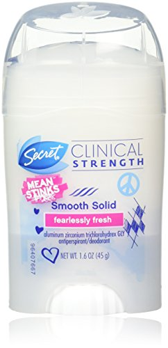 Secret Clinical Strength Mean Stinks Advanced Solid Antiperspirant Deodorant, Fearlessly Fresh 1.60 oz Pack of 3
