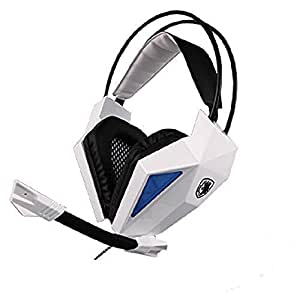 Wired Gaming Headset with Mic,Sades 709 3.5mm Stero Over Ear Headphone for PC Laptop Notebook Tablet Smartphone By AFUNTA-White
