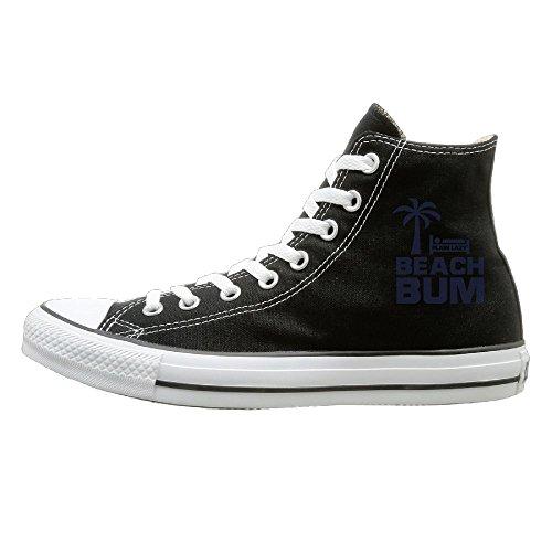 Hilo Canvas Shoes BEACH BUM Hi-Top Unisex Canvas Sneaker- Season Lace Ups Shoes Casual Trainers Men And Women 41 (Bass Canvas Jeans)