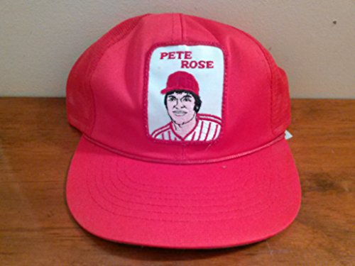 Vintage 1980's Pete Rose Baseball Cap with Embroidered Patch Cincinnati Reds