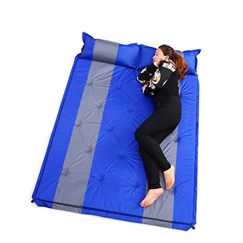 Luftmatratze selbst-aufblasbare Luft,matratze selbstaufblasend Tragbares Doppelbett mit eingebautem Kissen leicht ideale Schlaflösung für draußen, fürs Camping Wandern Picknicks, Camping-Bett