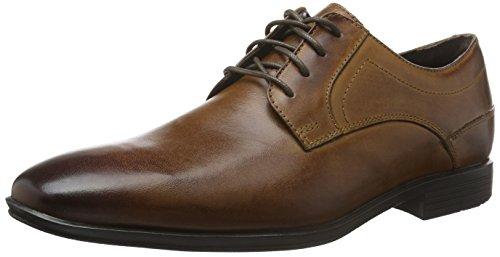 Rockport Styleconnected Plain Toe, Zapatos de Cordones Derby para Hombre Marrón - Braun (Dk Brown Lea)