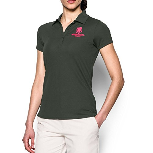 Under Armour Wwp polo de la mujer verde/rojo (COMBAT GREEN/HARMONY RED)