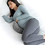 EKLO MommyWedge Pregnancy Wedge Pillow - Memory Foam Maternity Support for Back, Belly, Knees - Includes Soft Velvet Cover…