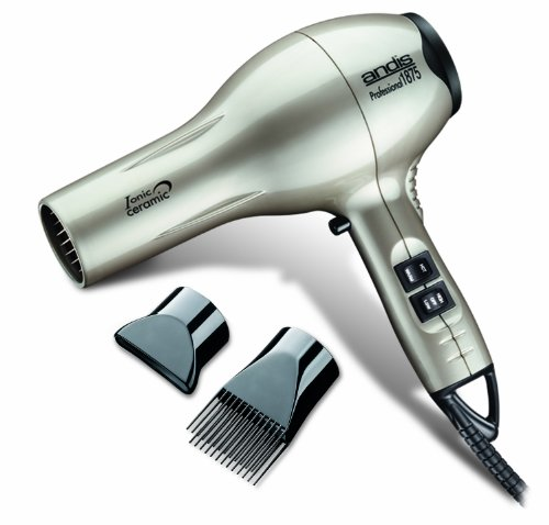 Andis 1875-Watt Professional Tourmaline Ceramic Ionic Hair Dryer, Platinum (82310)