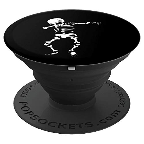 Dabbing Skeleton Funny Dab Dance Lazy Halloween Party Lover - PopSockets Grip and Stand for Phones and Tablets ()