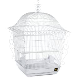 Prevue Pet Products Jumbo Scrollwork Bird Cage 220W White, 18-Inch by 18-Inch by 25-Inch