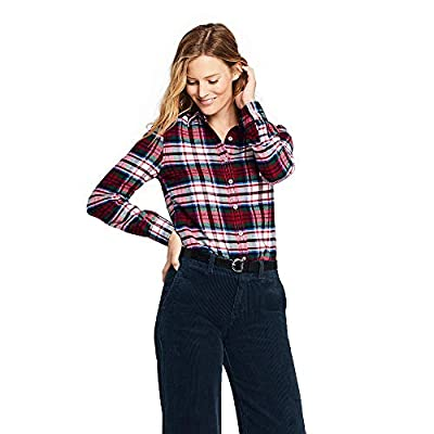 Lands' End Women's Petite Flannel Shirt