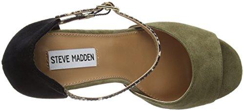 Steve Madden Myraa - Scarpa da Donna Verde/Nero