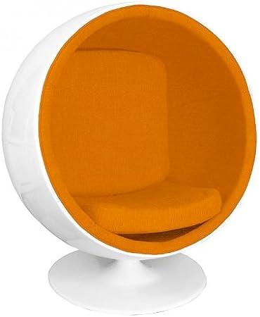 Adelta Ball Chair Lounge Sessel, orange Tonus 201 Gehäuse