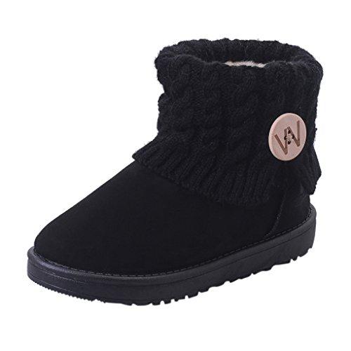 de Noir Fourrées Chaudes Chaussures Bottines Landove Plates Snow Chaussons Fille Rose Tricot Rejoint Boots Snowboots de Marron Hiver Bottes Beige Noir du Femmes Cheville Neige xXXwSFqa