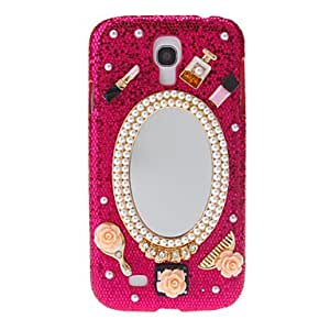 QHY Bling Jewels with Mirror Pattern Hard Back Cover Case for Samsung Galaxy S4 I9500 , Rose