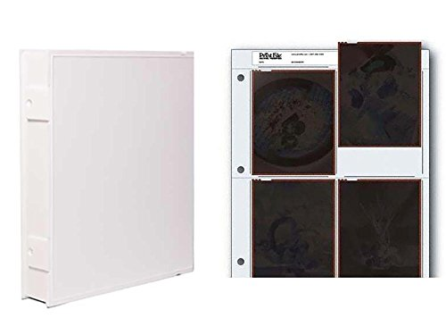 Vue-All Archival Safe-T-Binder with Rings, White with Archival Negative Pages Holds Four 4 x 5 Inches Negatives or Transparencies, Pack of 25 by Omega Brandess Distribution (Image #3)