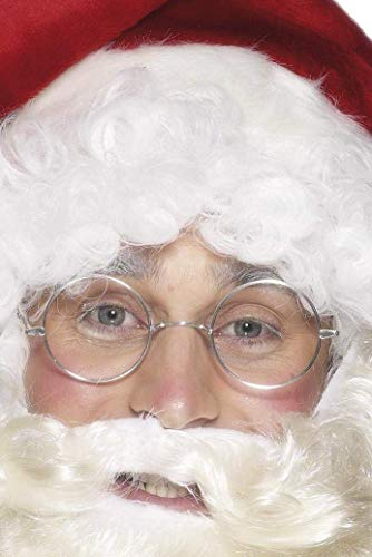 Smiffys Wire Framed Santa Specs Costume Accessory,Silver,One
