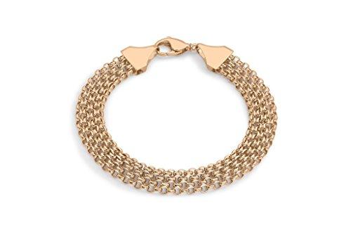 """Or Rose 9ct 36Garibaldi Chaîne Bracelet 19cm/7,5"""""""