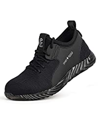 TQGOLD Safe Work Shoes for Men and Women Industrial & Construction Anti-Puncture Breathable Comfortable Steel Toes Safety Shoes