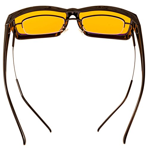 73d983d7cd Swanwick Sleep Fitover Blue Light Blocking Glasses and Computer Eyewear – Wear  OVER your Prescription Glasses or Readers