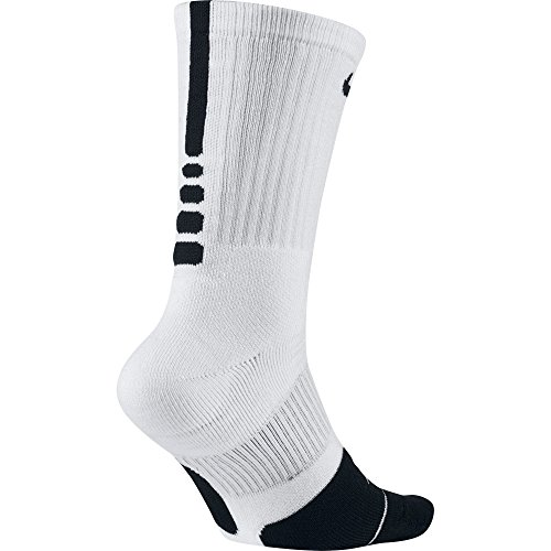 NIKE Unisex Elite 1.5 Crew Basketball , White/Black/Black,