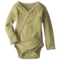 L'ovedbaby Unisex-Baby Organic Cotton Kimono Long Sleeve Bodysuit, Sage, 3/6 ...