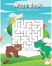 Maze Book For Kids 4-6: Workbook mazes:A Fun Magical Maze Activity Book for Kids