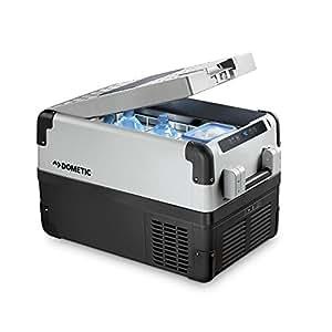 Dometic Waeco Coolfreeze CFX 35W - Nevera de compresor portátil, conexiones 12 / 24 / 230 V, 32 litros de capacidad, clasificación energética A++, capacidad de enfriamiento de +10ºC a -22ºC