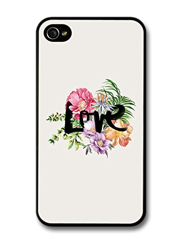 Cool Love and Flowers Hand Written Typography Style case for iPhone 4 4S