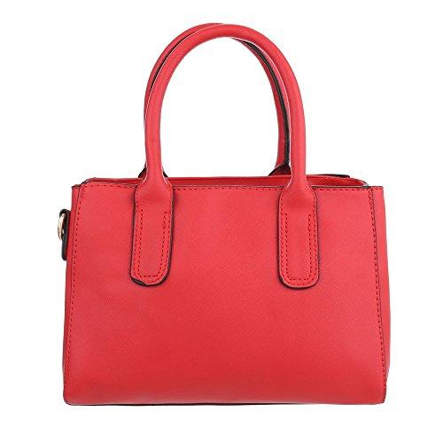 Ital-Design - Bolso al hombro de Material Sintético para mujer Rojo