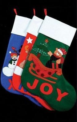 "48"" Oversized ""Joy"" Bear Christmas Stocking"