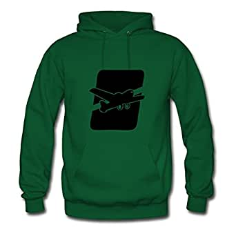X-large Green Style Personality Puzzle Airplane Sweatshirts By Lynsnyd - Women