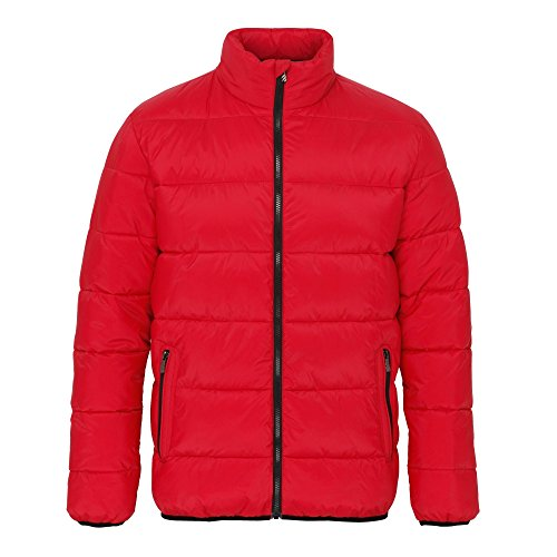 2786 Mens Venture Supersoft Padded Full Zip Jacket Red/black
