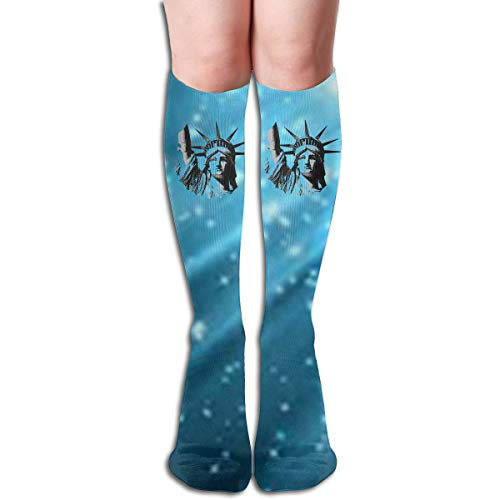 Xdinfong Statue of Liberty Football Fashion Over The Calf Socks for Men & Women -
