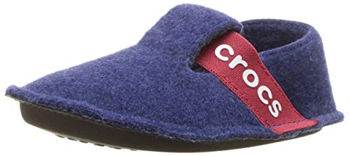 Crocs Kids' Boys and Girls Classic Slipper, Comfortable Slip On Toddler Shoe with Soft Liner