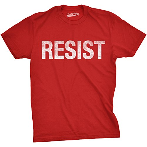 Mens Resist Tee United States of America Protest Rebel Political T Shirt (Red) - L - Fight Mens Tee