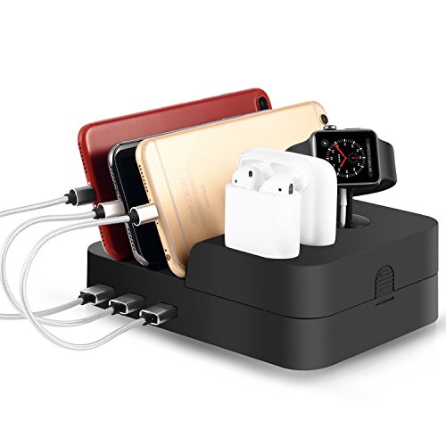 Cheap Smart Watch Cables & Chargers Airpods Apple Watch and Cell Phone Charging Dock iwatch Stand Holder Quick..