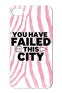 You Have Failed This CIty Black For Iphone 4 Funny Fail City Satire Arrow Protective Hard Case