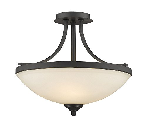 3-Light Transitional Semi Flush Mount (Bordeaux Flush Mount Ceiling Light)