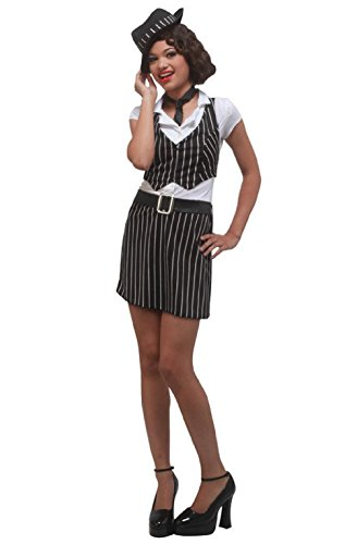 Mobster Gangster Girl Teen Costume
