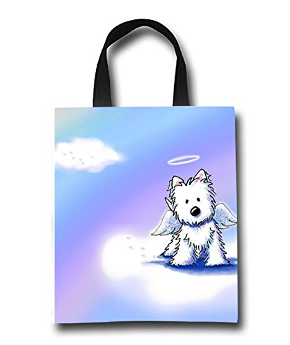 Angel Dog Beach Tote Bag - Toy Tote Bag - Large Lightweight Market, Grocery & Picnic by Linhong