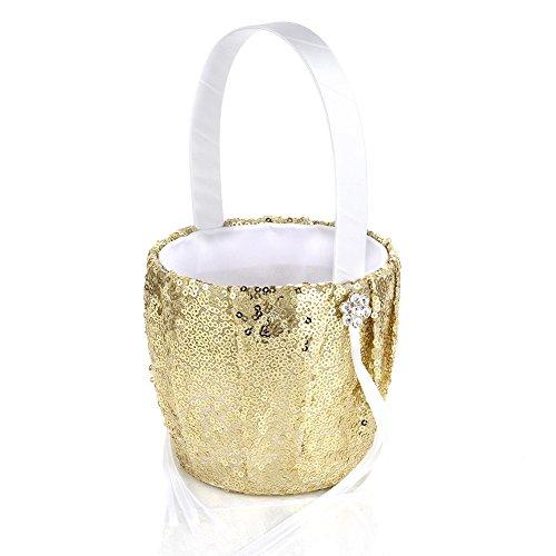 Sequin Decor Flower (Adealink Wedding Ceremony Party Decor Sequins Flower Basket Wedding Party Supplies)
