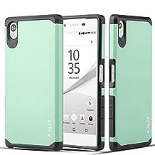Sony Xperia Z5 Case, J&D [Armor Box] Sony Xperia Z5 [Heavy Duty] [Dual Layer] Hybrid Shock Proof Fully Protective Case for Sony Xperia Z5 (Sony Xperia Z5, Mint)