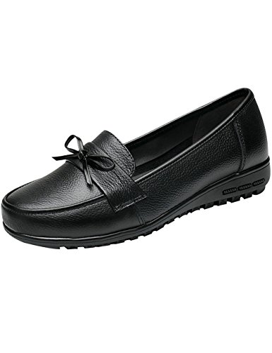 Mocassins Cuir Noir Femmes Slip on Flâneur Plates Youlee Chaussures U0qwvSnx