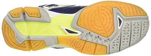Homme Bluedepths Multicolore Mid Mizuno Volleyball Wave Safetyyellow Tornado White de Chaussures xYq84Rwq