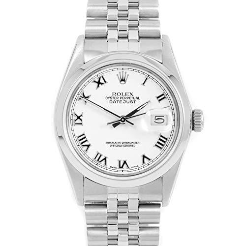 Rolex 16030 Men's 36mm Datejust Model - White Dial - Jubilee Bracelet (Certified Pre-Owned)